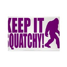 Purple KEEP IT SQUATCHY! Rectangle Magnet (10 pack