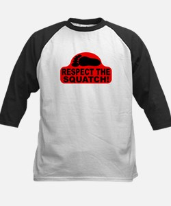 Red RESPECT THE SQUATCH! Kids Baseball Jersey