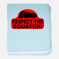 Red RESPECT THE SQUATCH! baby blanket