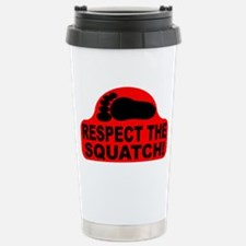 Red RESPECT THE SQUATCH! Stainless Steel Travel Mu