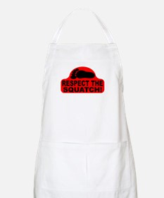 Red RESPECT THE SQUATCH! Apron
