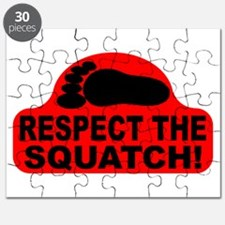 Red RESPECT THE SQUATCH! Puzzle