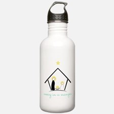 Away In A Manger Water Bottle