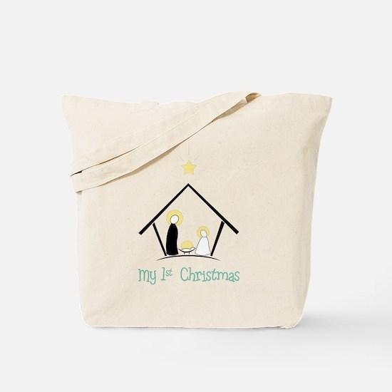 My 1st Christmas Tote Bag