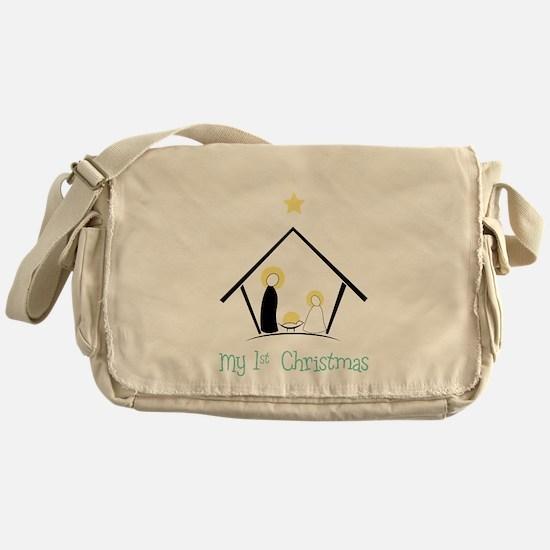 My 1st Christmas Messenger Bag