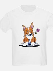 Corgi w/ Flower T-Shirt