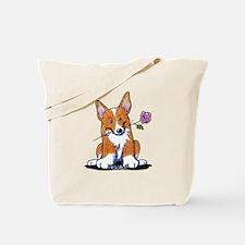 Corgi w/ Flower Tote Bag