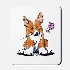 Corgi w/ Flower Mousepad