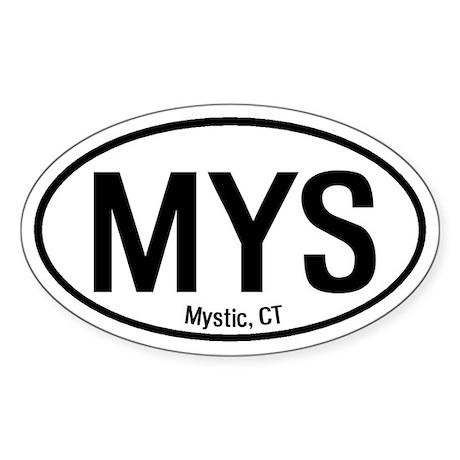 Mystic, Connecticut Oval Sticker