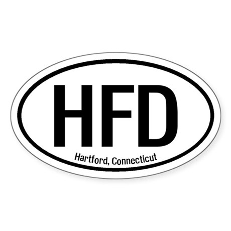 Hartford, Connecticut Oval Sticker