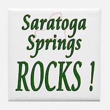 Saratoga Springs Rocks ! Tile Coaster