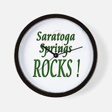 Saratoga Springs Rocks ! Wall Clock