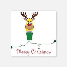 "Merry Christmas Square Sticker 3"" x 3"""