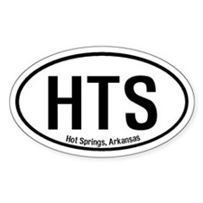 Hot Springs, Arkansas Oval Decal