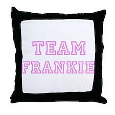 Pink team Frankie Throw Pillow