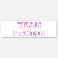Pink team Frankie Bumper Bumper Bumper Sticker