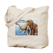 1994 Canada Woolly Mammoth Postage Stamp Tote Bag