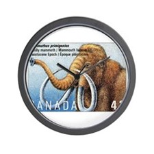 1994 Canada Woolly Mammoth Postage Stamp Wall Cloc