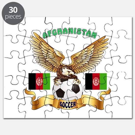 Afghanistan Football Design Puzzle