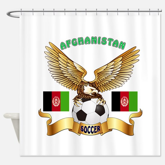 Afghanistan Football Design Shower Curtain