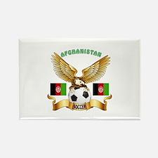 Afghanistan Football Design Rectangle Magnet