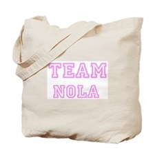 Pink team Nola Tote Bag