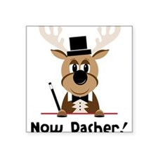 "Now Dasher Square Sticker 3"" x 3"""