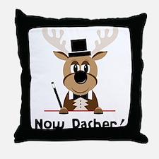 Now Dasher Throw Pillow