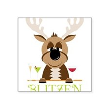 "Blitzen Square Sticker 3"" x 3"""