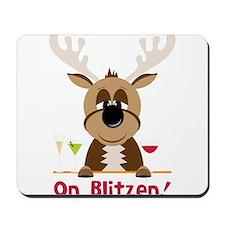 On Blitzen! Mousepad
