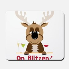 On Blitzen! Mousepad