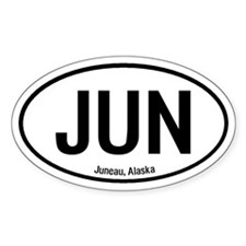 Juneau, Alaska Oval Decal