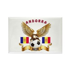 Andorra Football Design Rectangle Magnet (100 pack