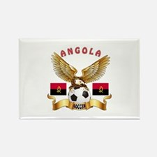 Angola Football Design Rectangle Magnet