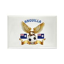 Anguilla Football Design Rectangle Magnet