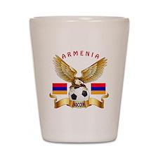 Armenia Football Design Shot Glass