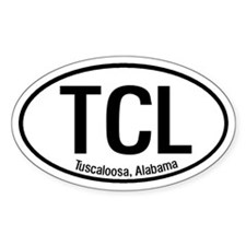 Tuscaloosa Alabama Oval Decal