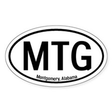 Montgomery, Alabama Oval Decal