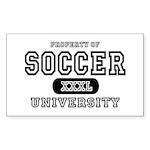 Soccer University Rectangle Sticker