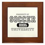 Soccer University Framed Tile