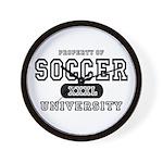Soccer University Wall Clock