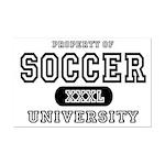 Soccer University Mini Poster Print