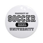 Soccer University Ornament (Round)