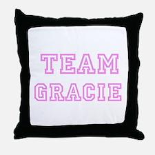 Pink team Gracie Throw Pillow