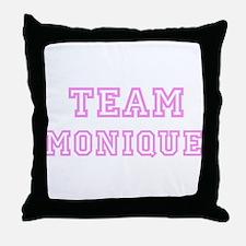 Pink team Monique Throw Pillow