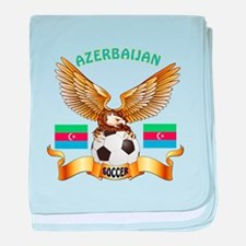 Azerbaijan Football Design baby blanket