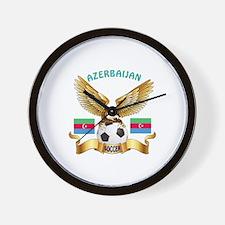 Azerbaijan Football Design Wall Clock