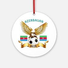 Azerbaijan Football Design Ornament (Round)