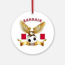 Bahrain Football Design Ornament (Round)