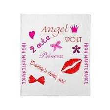 Spoilt Princess Throw Blanket